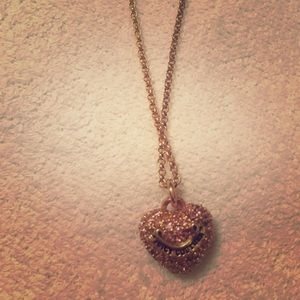Juicy couture necklace in gold with pink heart